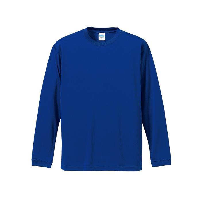 4.7オンス ドライシルキータッチ ロングスリーブ Tシャツ