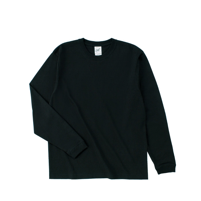 オープンエンドマックスウェイトロングスリーブTシャツ(リブ有り)