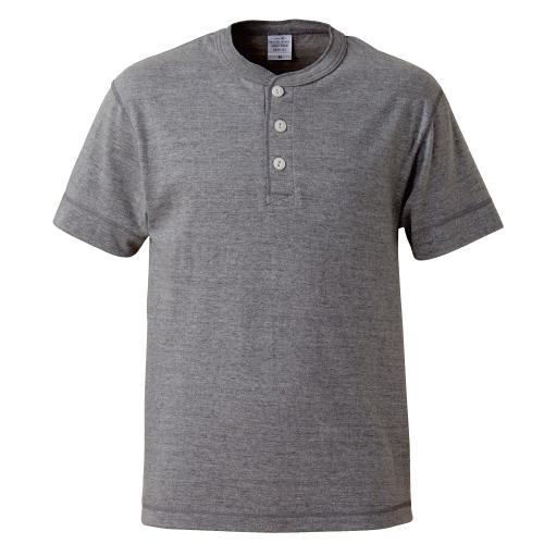 5.6オンス ヘンリーネック Tシャツ