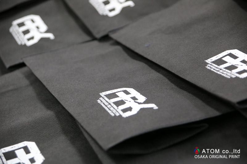 不織布バック シルクスクリーンプリント 大阪 オリジナルプリント 乾燥中 アップ