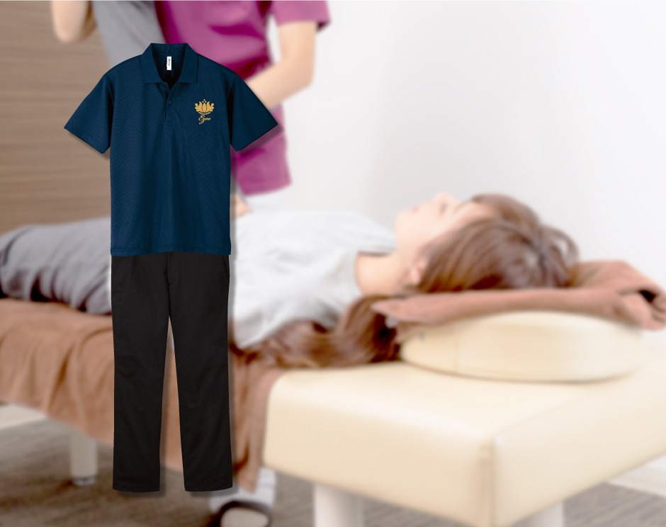 整体師の制服プリント