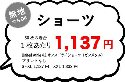 ショーツ1枚あたり¥1,137