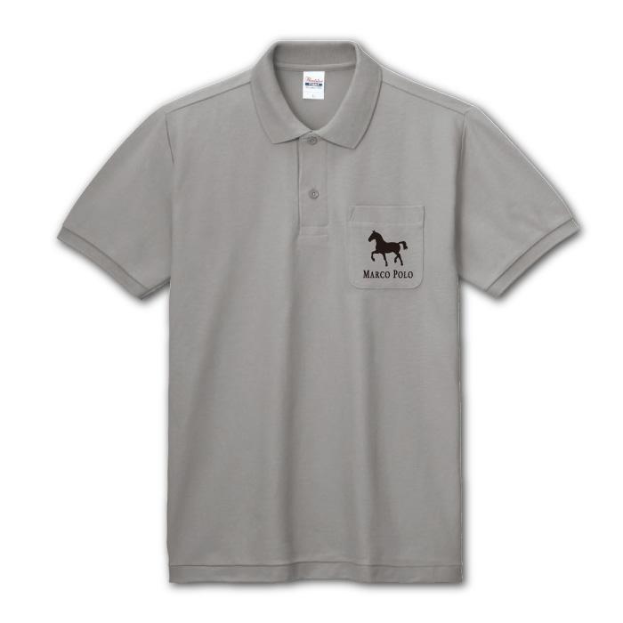 T/Cポロシャツ(ポケット付)のプリントイメージ