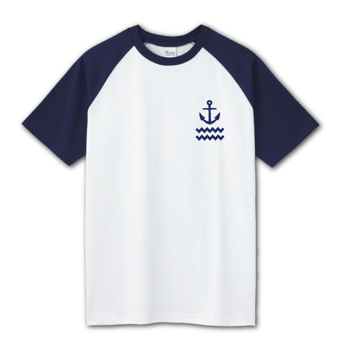 ラグランTシャツのプリントイメージ