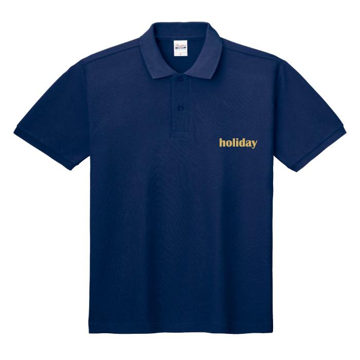 T/Cポロシャツ(ポケット無し)のプリントイメージ
