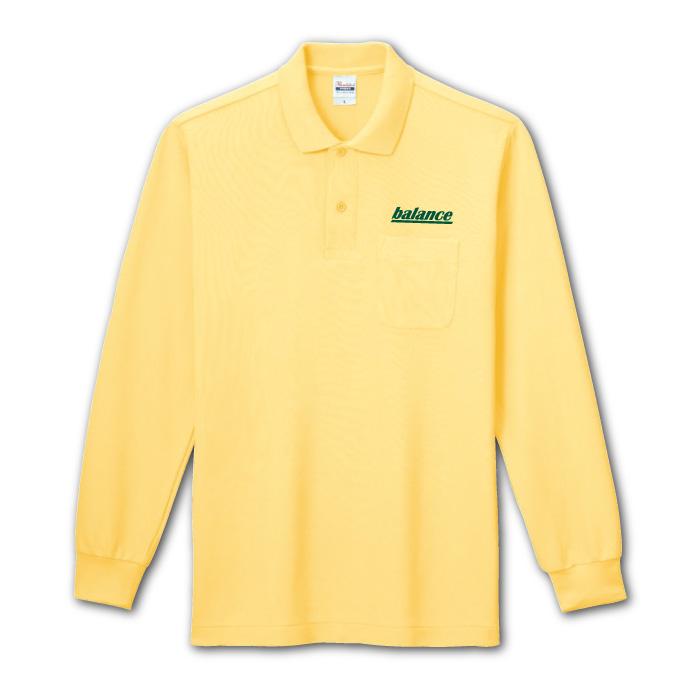 T/C長袖ポロシャツのプリントイメージ