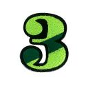 ワッペン「数字の3」