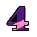 ワッペン「数字の4」