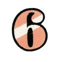 ワッペン「数字の6」