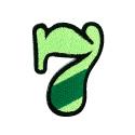 ワッペン「数字の7」