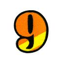 ワッペン「数字の9」