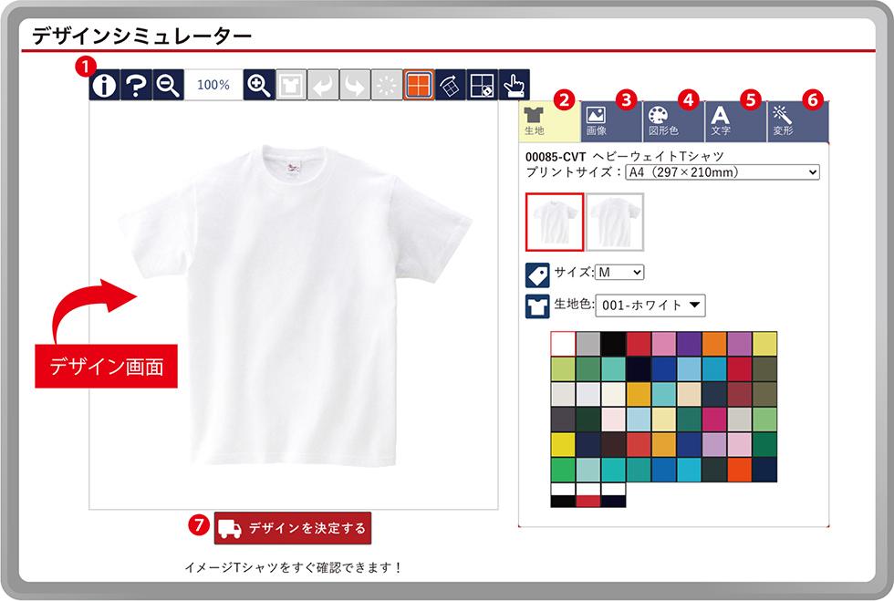 デザインシミュレーター使用イメージ