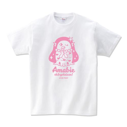 アマビエTシャツピンク