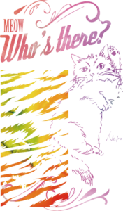 いきもの×柄 個性Tシャツ:猫カラー