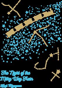 文学作品Tシャツ:銀河鉄道の夜