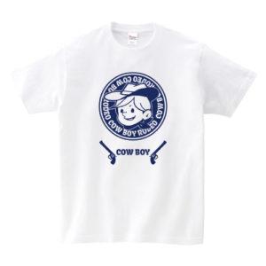 アメリカンレトロ風Tシャツ:カウボーイ1色