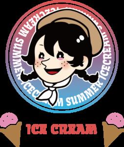 アメリカンレトロ風Tシャツ:アイスクリームカラー