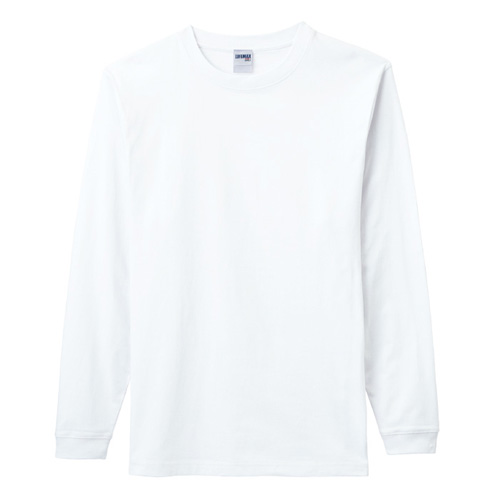 6.2オンスヘビーウェイトロングスリーブTシャツ(ホワイト)