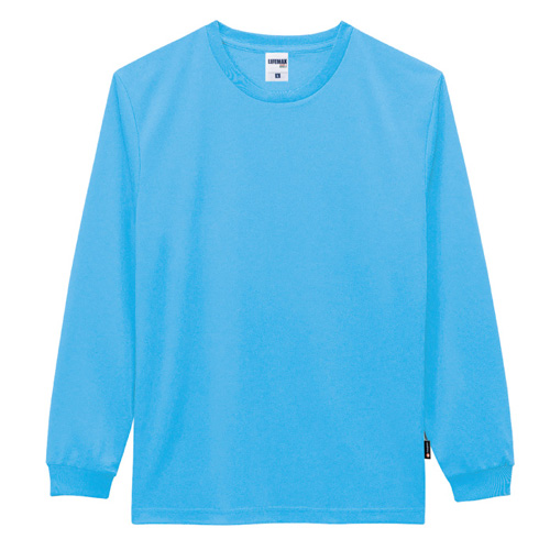 4.3オンスドライロングスリーブTシャツ(ポリジン加工)
