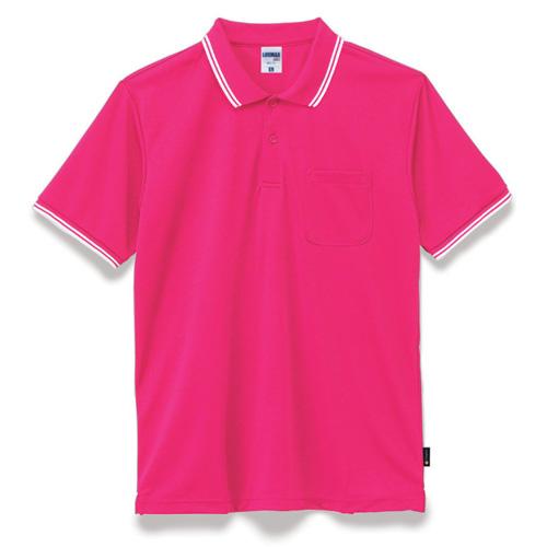 ライン入りベーシックドライポロシャツ(ポリジン加工)