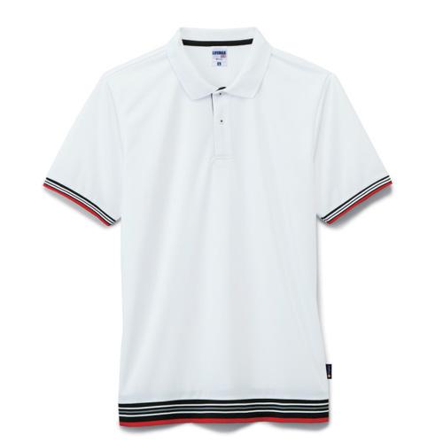 裾ラインリブドライポロシャツ(ポリジン加工)